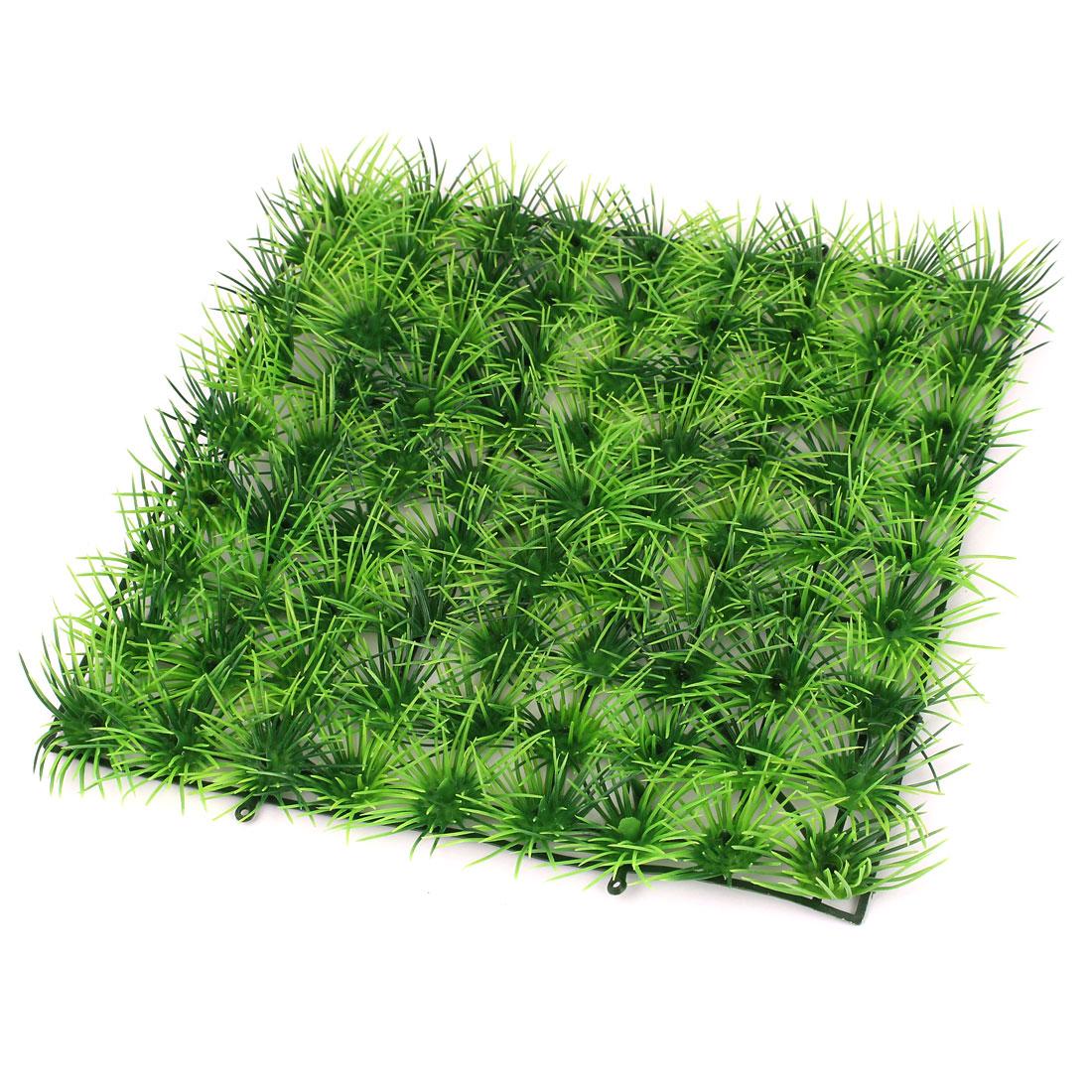 "Aquarium Landscaping Green Manmade Aquatic Grass Lawn Plant 9.4"" Length"