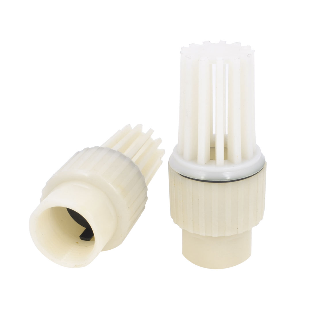 "2 PCS Replacement 1.2"" Thread Dia Plastic PVC Foot Bottom Valves"