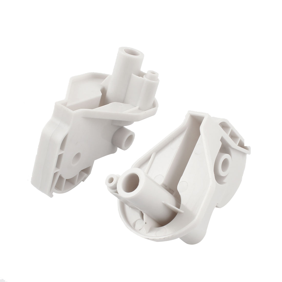 2PCS White Plastic Electric Fan Elbow Connectors 78mm x 52mm x 85mm