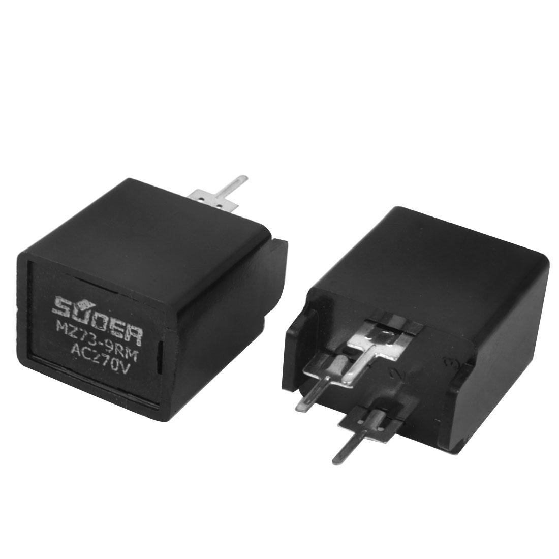 2 PCS 3 Terminals 9 Ohm AC 270V Thermistor Degaussing Resistor MZ73-9RM