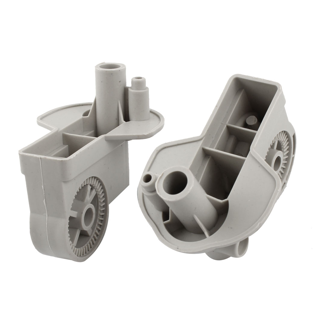 2PCS Gray Plastic Electric Fan Elbow Connectors 85mm x 62mm x 83mm