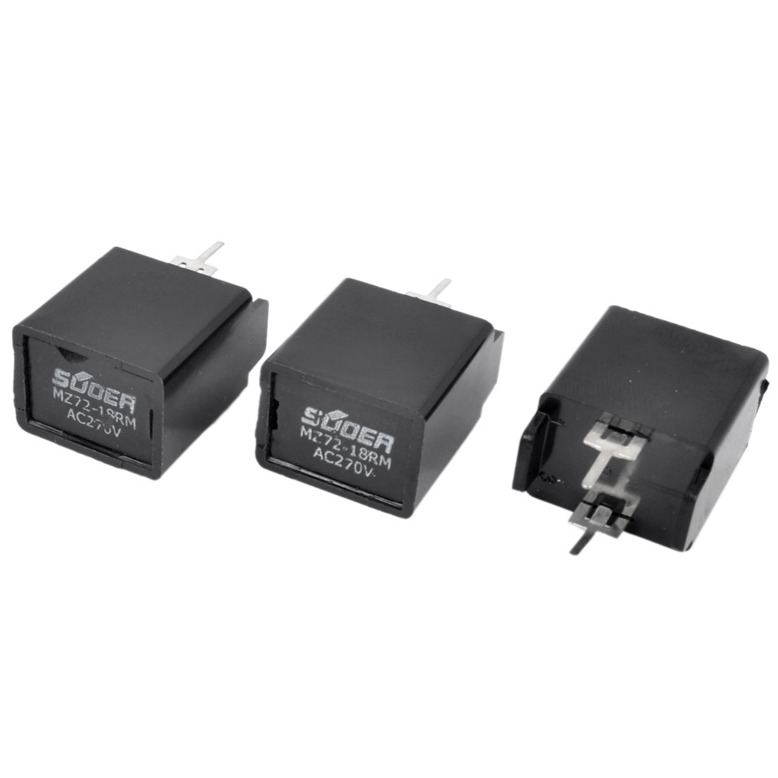 3 x TV Degaussing Send Electronic Resistance 18 Ohm 2 Terminals AC 270V MZ72-18RM