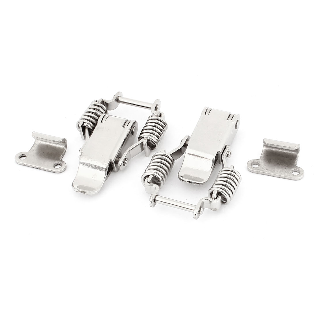 2 Sets Silver Tone Stainless Steel Toggle Latch Catch 5.5cm Length