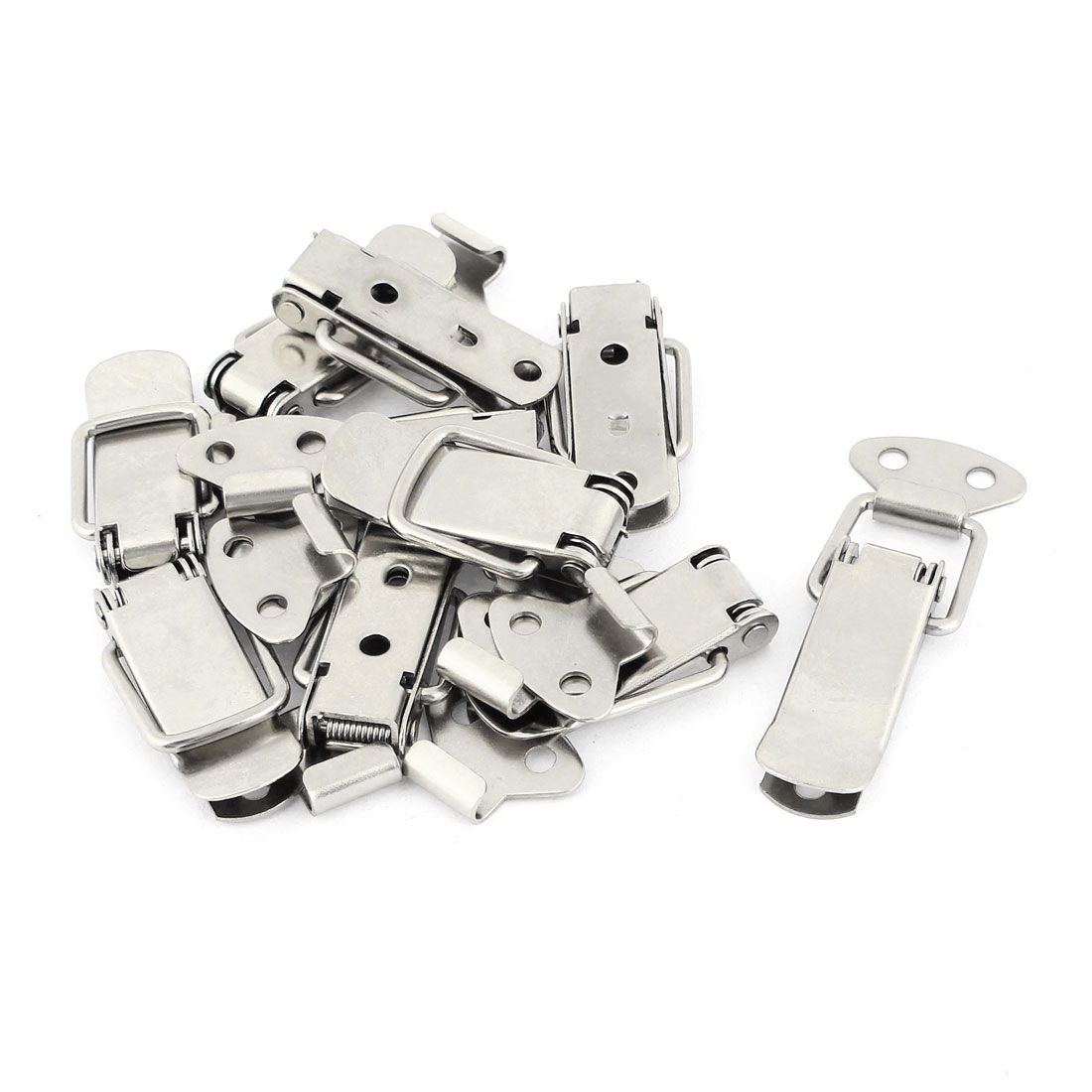 10sets Silver Tone 4mm Bore Diameter Spring Loaded Toggle Latches
