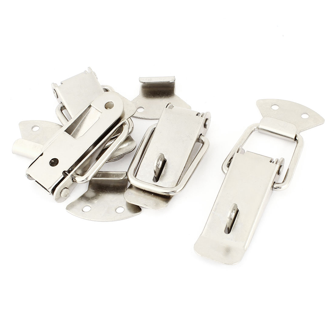 4 Sets 4mm Bore Diameter Stainless Steel Door Lock Hasp Toggle Latches