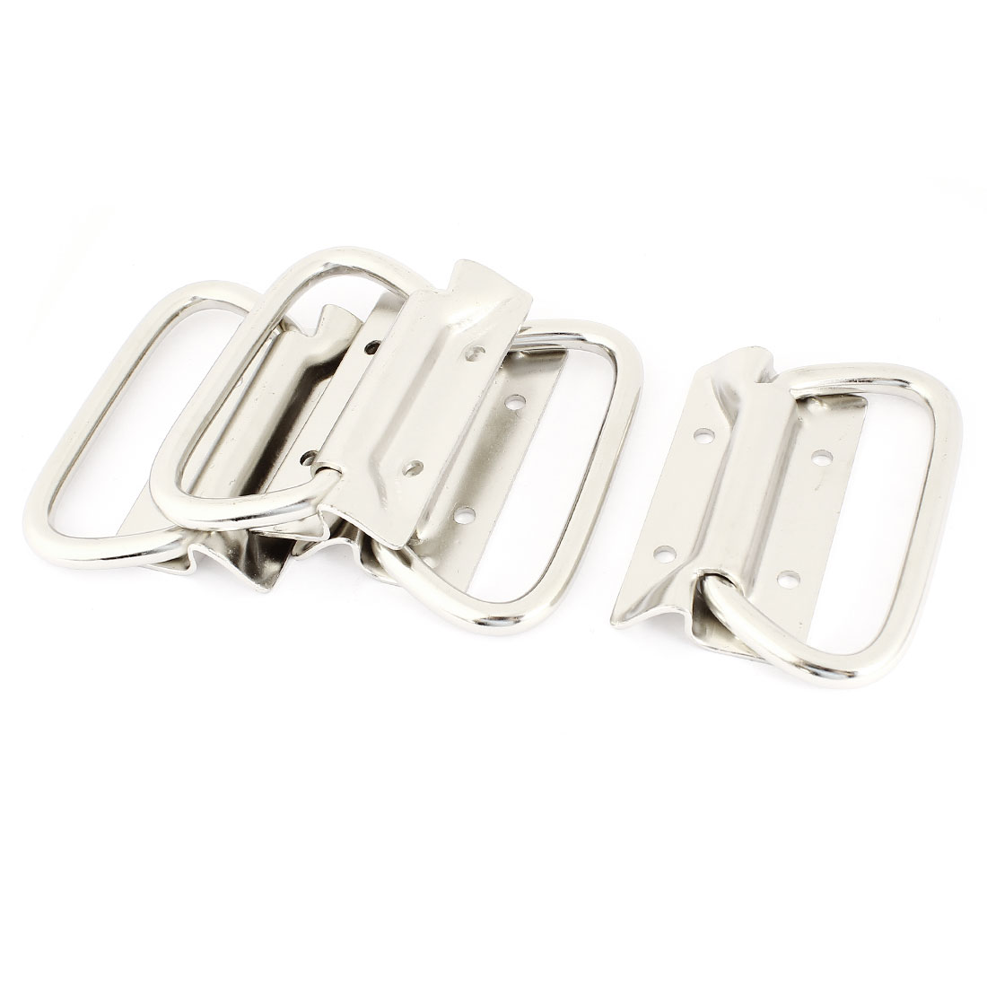 Hardware Parts Cabinet Door Pull Handle 8.6cm Long Silver Tone 4 Pcs