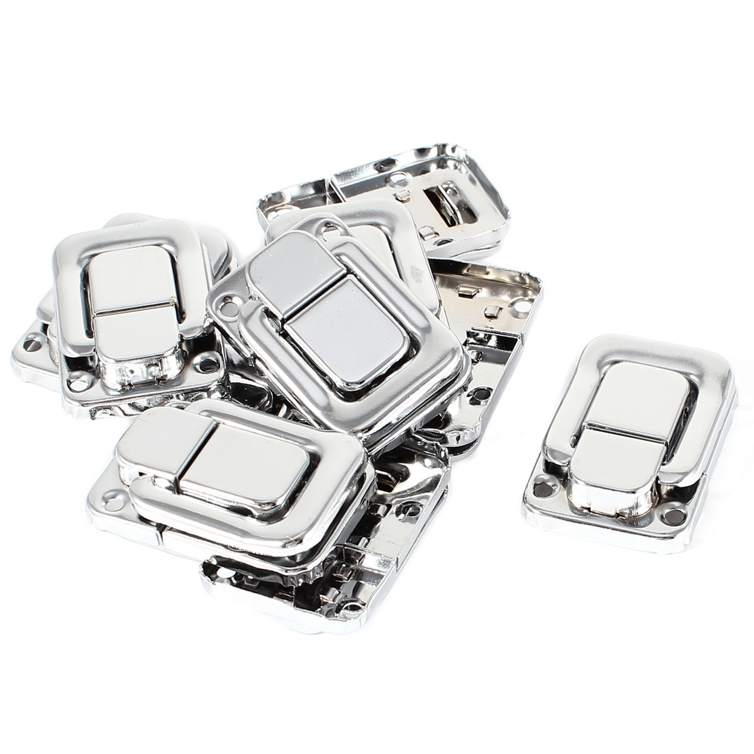 10 Pcs Stainless Steel Spring Loaded Cases Boxes Chest Toggle Catch Latch