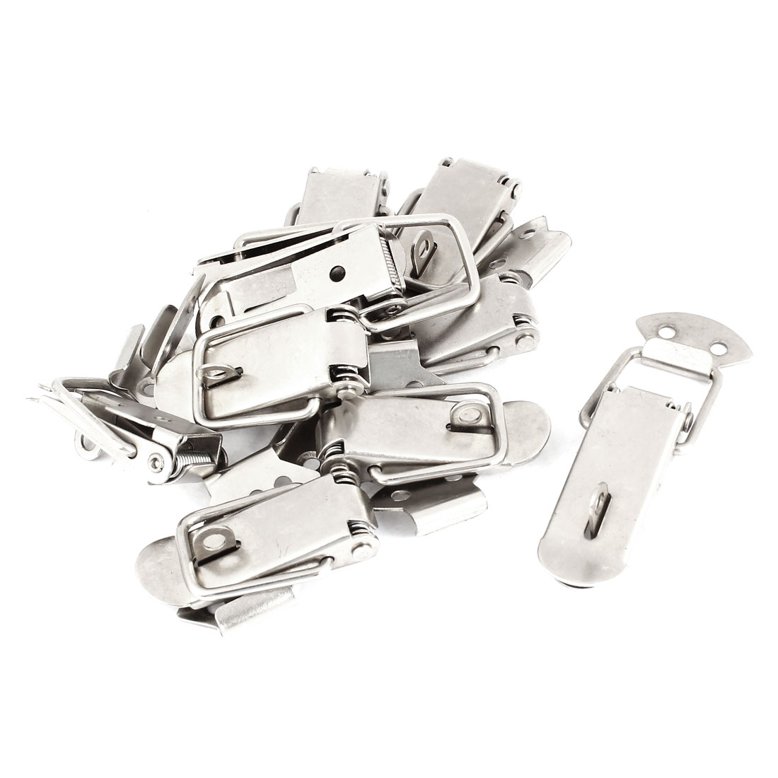 Hardware Stainless Steel Fixing Spring Toggle Latch Hasp 10 Sets