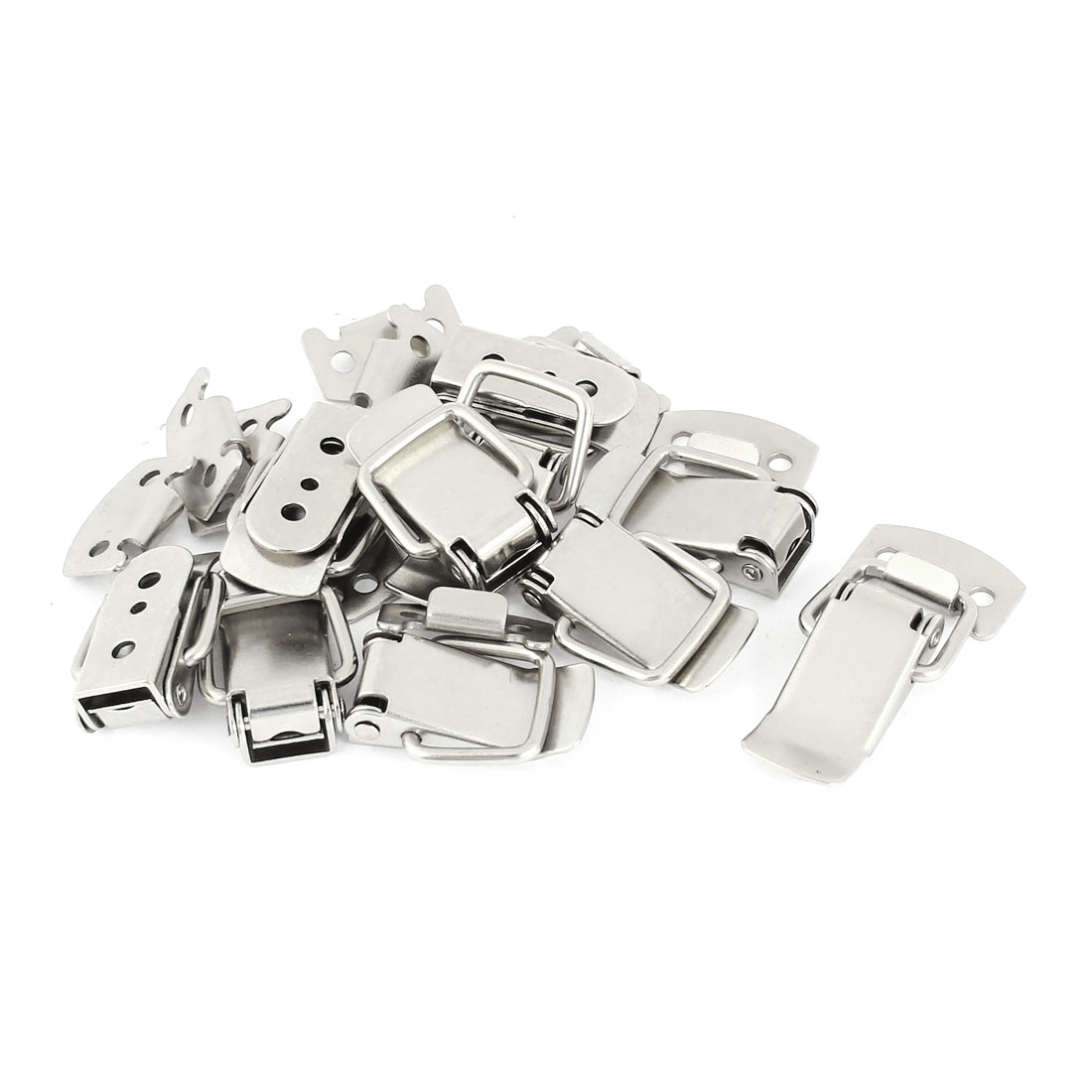 Chests Cases Boxes Spring Loaded Toggle Latch Catch Hasp Silver Tone 10sets
