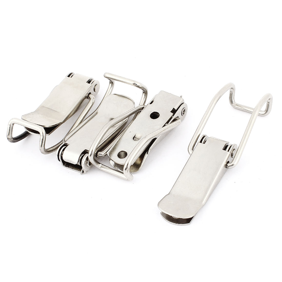 "Drawer Closet Hardware 2.8"" Long Stainless Steel Toggle Latch Catch 4pcs"