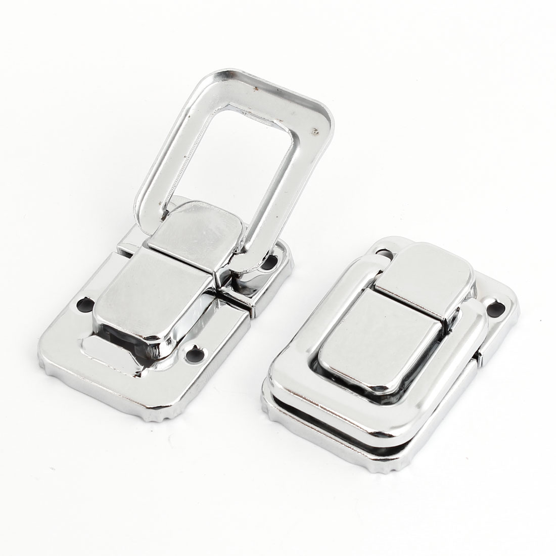 2 Pcs Screw Mount Silver Tone Toolbox Suit Case Toggle Draw Latch