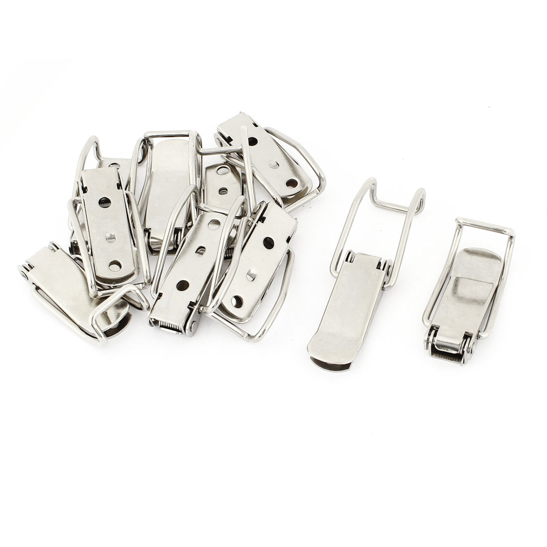 Case Box Cabinet Stainless Steel Spring Loaded Draw Toggle Latch 10pcs