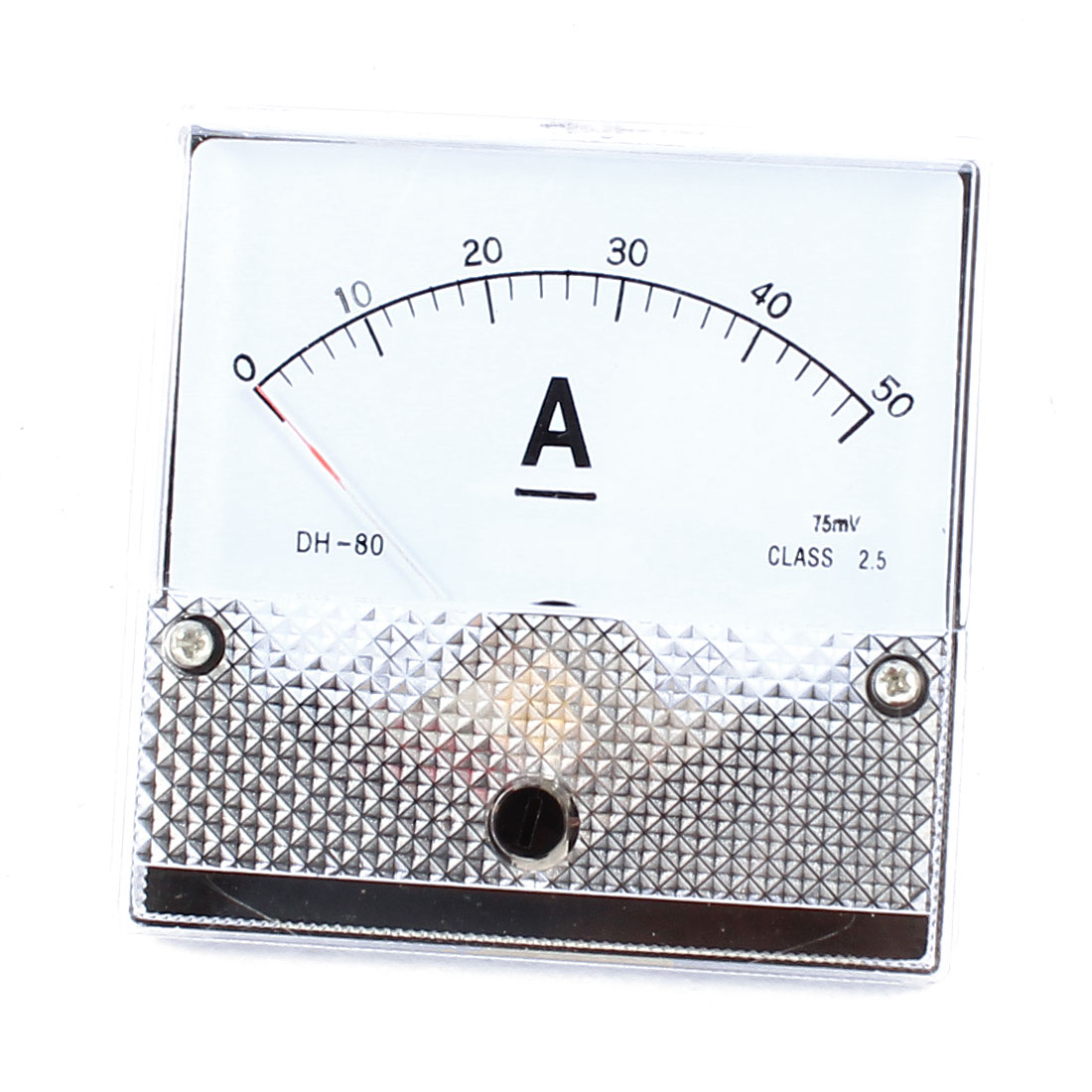 Screw Mounted Class 2.5 Accuracy DC 50A Analog Ammeter Panel Meter DH-80