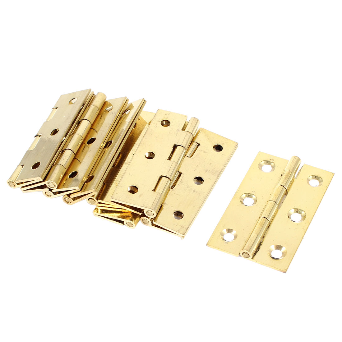 10 Pcs Rectangle Metal Folding Furniture Cupboard Closet Door Butt Hinge