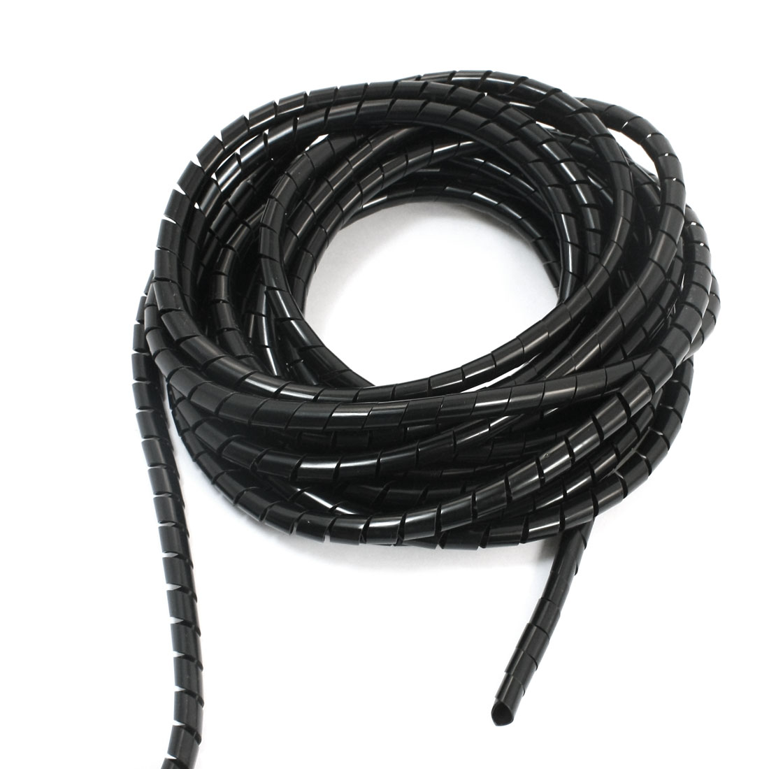 8mm x 8M Spiral Cable Wire Wrap Band Computer Manage Cord Black