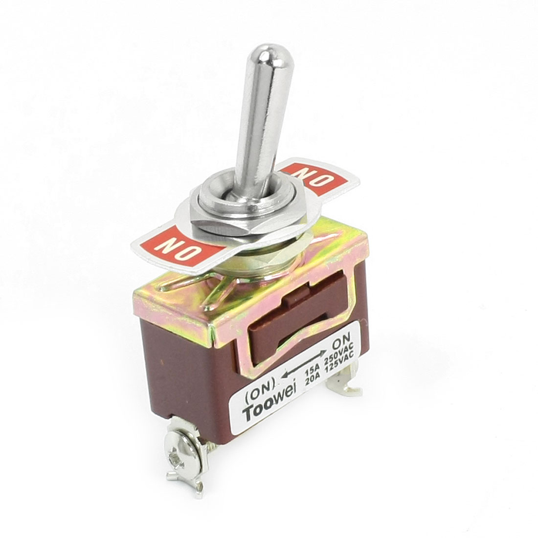 12mm Panel Mounted SPDT ON/ON Momentary Toggle Switch AC 250V 15A T701DW