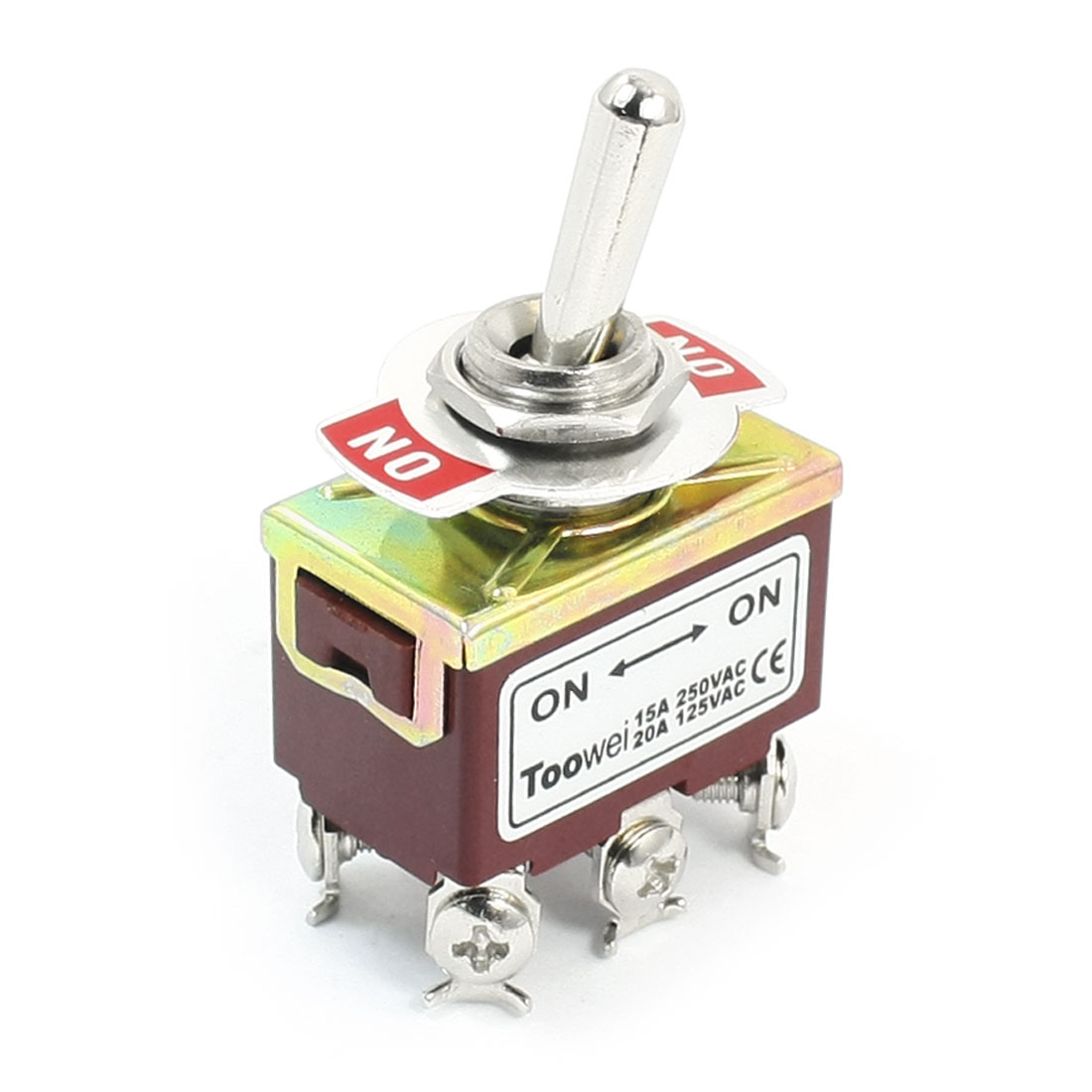 ON/ON 6 Screw Terminals Latching Power Control Toggle Switch AC 125V 20A T702BW