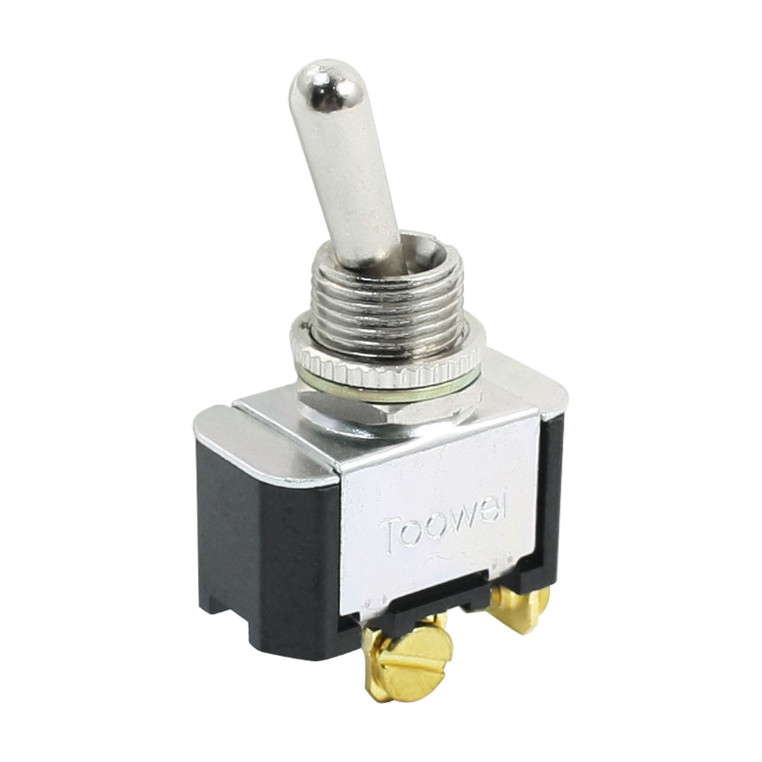 12mm Panel Mounted SPST ON-OFF Self Locking Toggle Switch AC 250V 10A T6011W