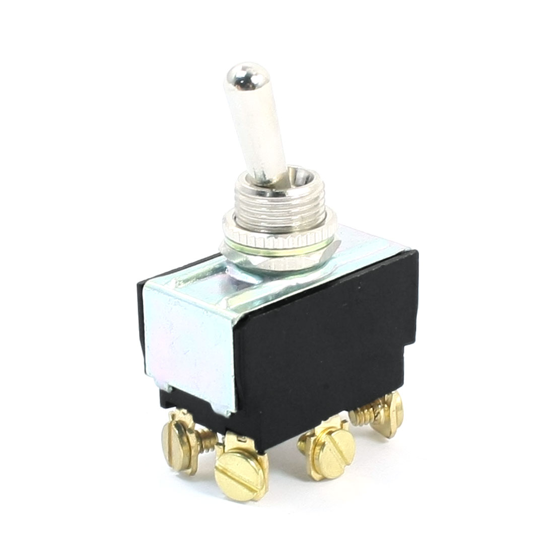 12mm Panel Mount DPDT ON/ON Locking 2 Position Toggle Switch AC 250V 10A T6022W