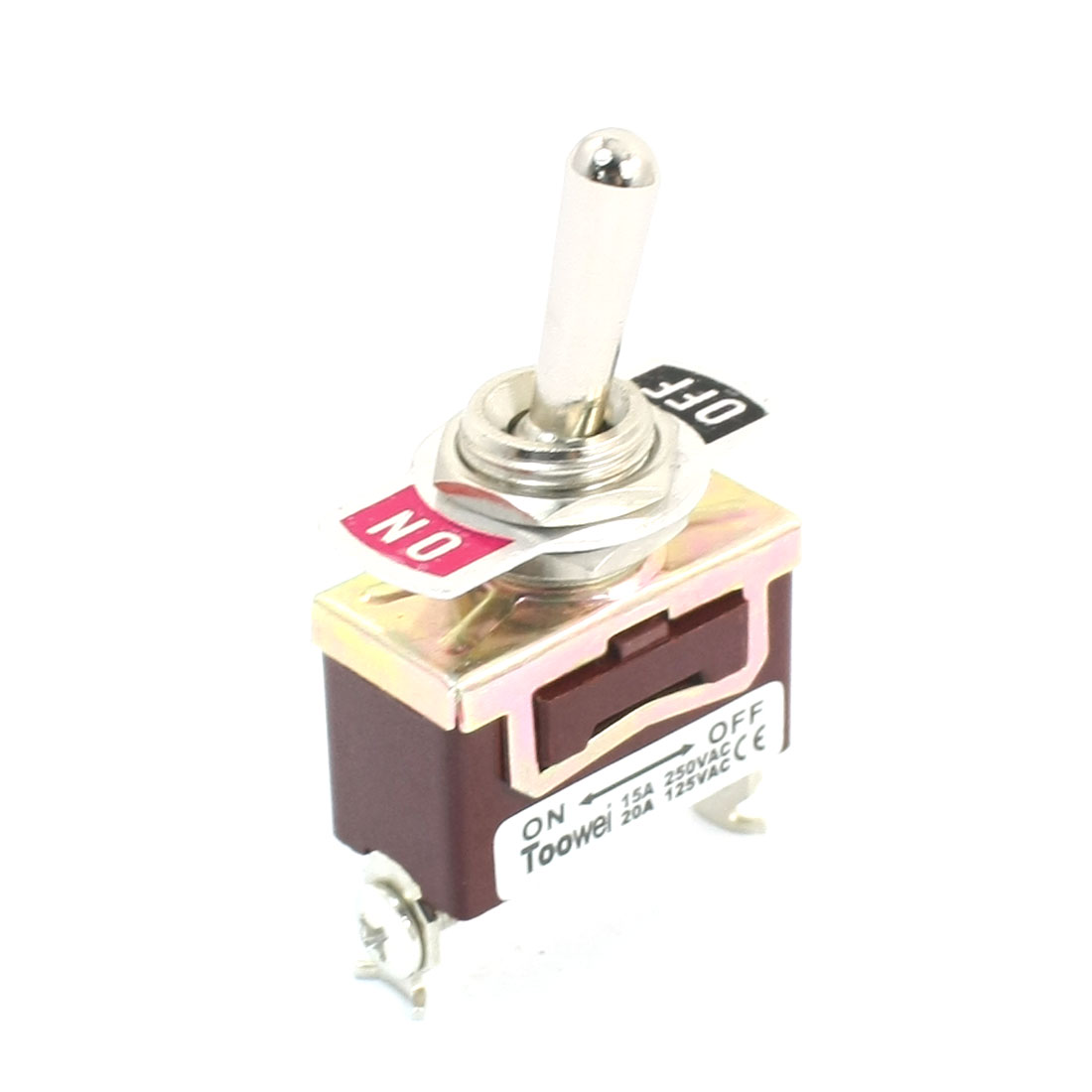 SPST ON/OFF 2 Screw Terminals Momentary Toggle Switch AC 125V 20A T701FW