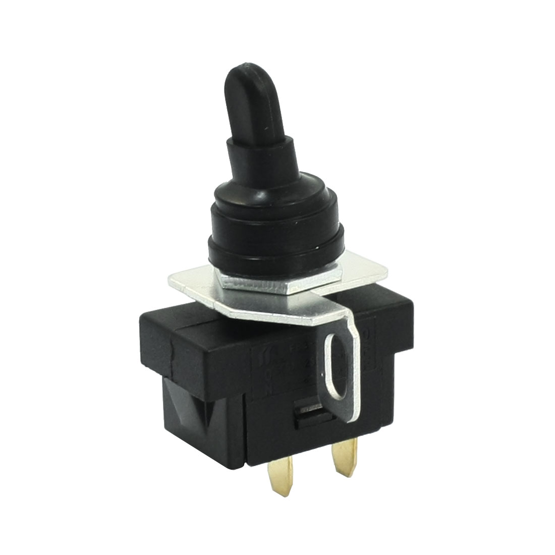 SPST 2 Terminals Locking Toggle Switch AC 250V 5A w Waterproof Cover