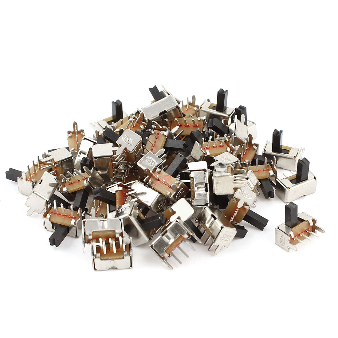 55Pcs SK12D07-VG5 2 Position 1P2T SPDT Mini Slide Switch Right Angle PCB DC 12V 0.1A