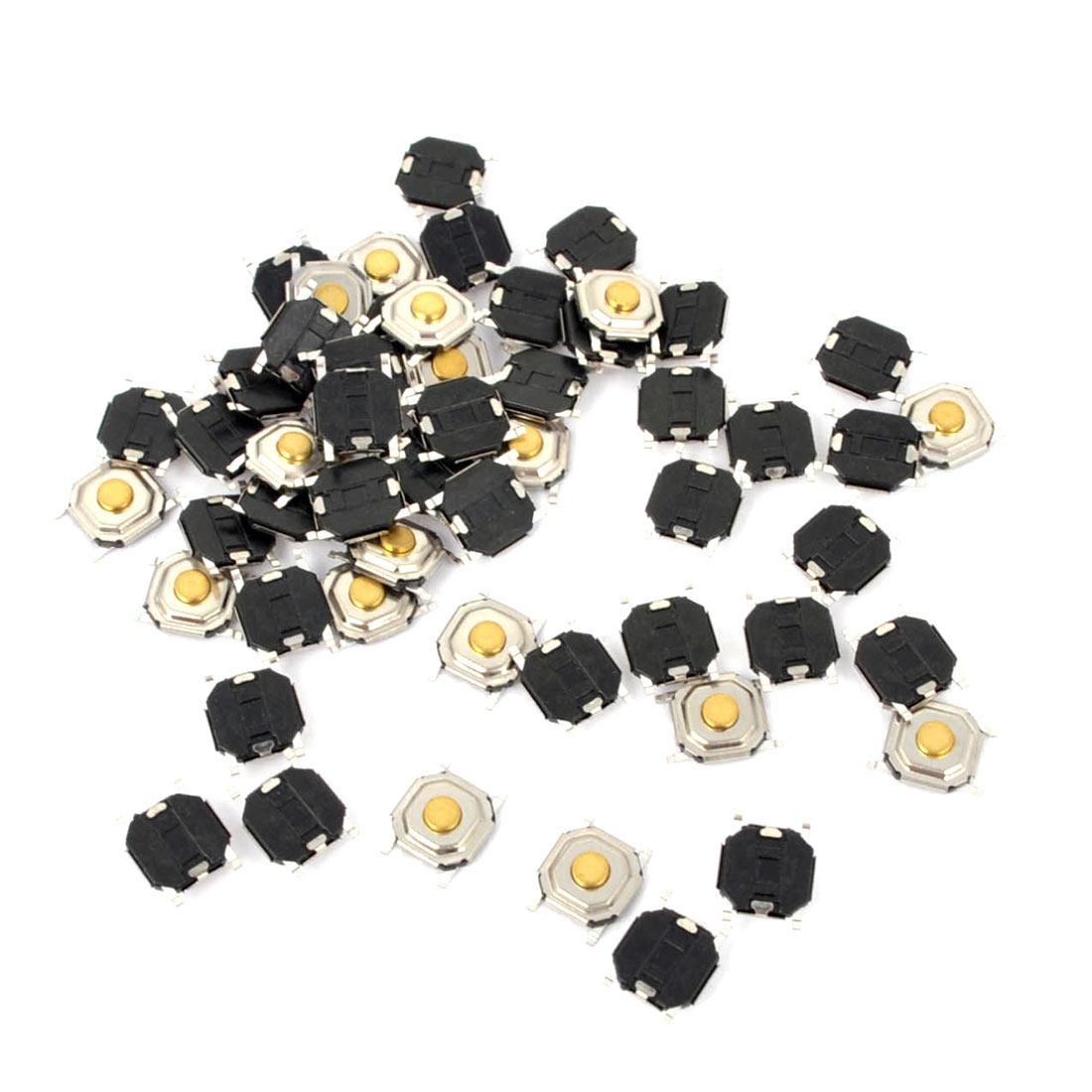 55Pcs Momentary Tact Tactile Push Button Switch 4mmx4mmx1.6mm 4-pin