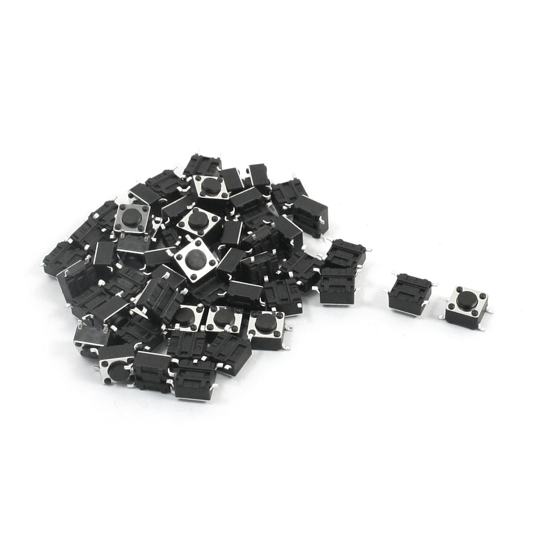 55Pcs Momentary Tact Tactile Push Button Switch 6mmx6mmx4.3mm 4-pin