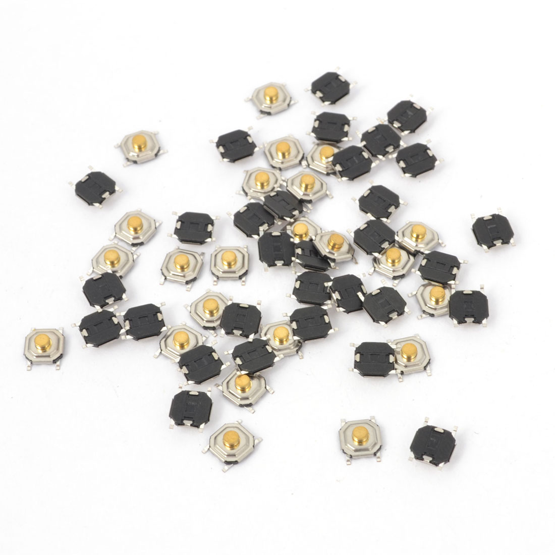 55Pcs Momentary Tact Tactile Push Button Switch 4mmx4mmx2mm 4-pin