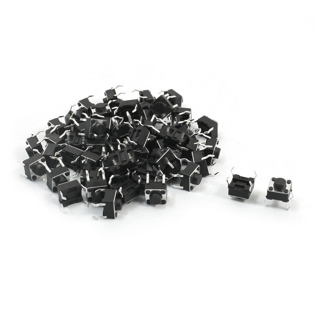 55Pcs Momentary PCB Pushbutton Push Button Tact Tactile Switch DIP 6mmx6mmx5mm