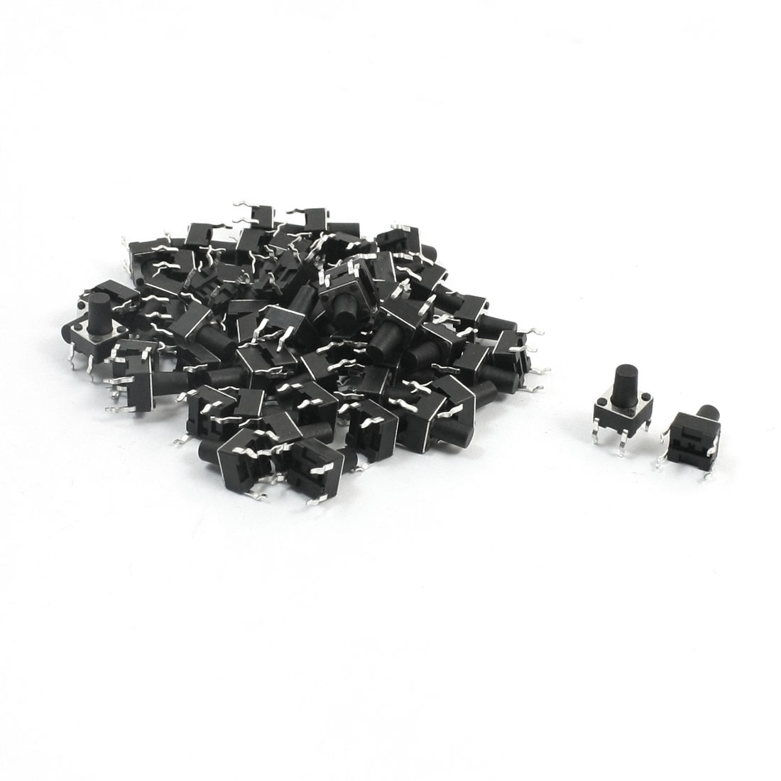 55Pcs Momentary PCB Pushbutton Push Button Tact Tactile Switch DIP 6mmx6mmx8.5mm