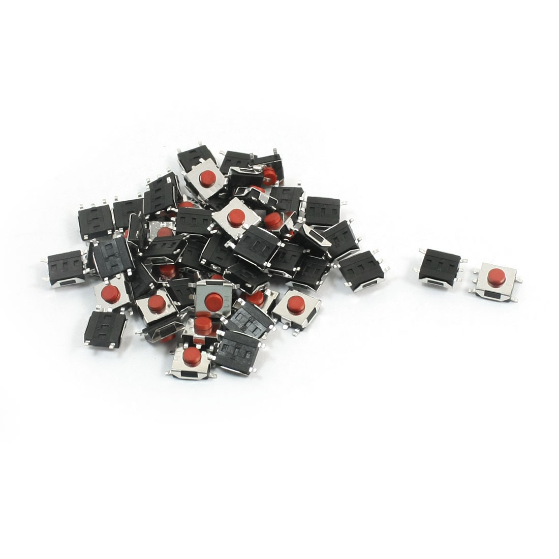 55Pcs Momentary Tact Tactile Push Button Switch 6mmx6mmx3.1mm 5-pin