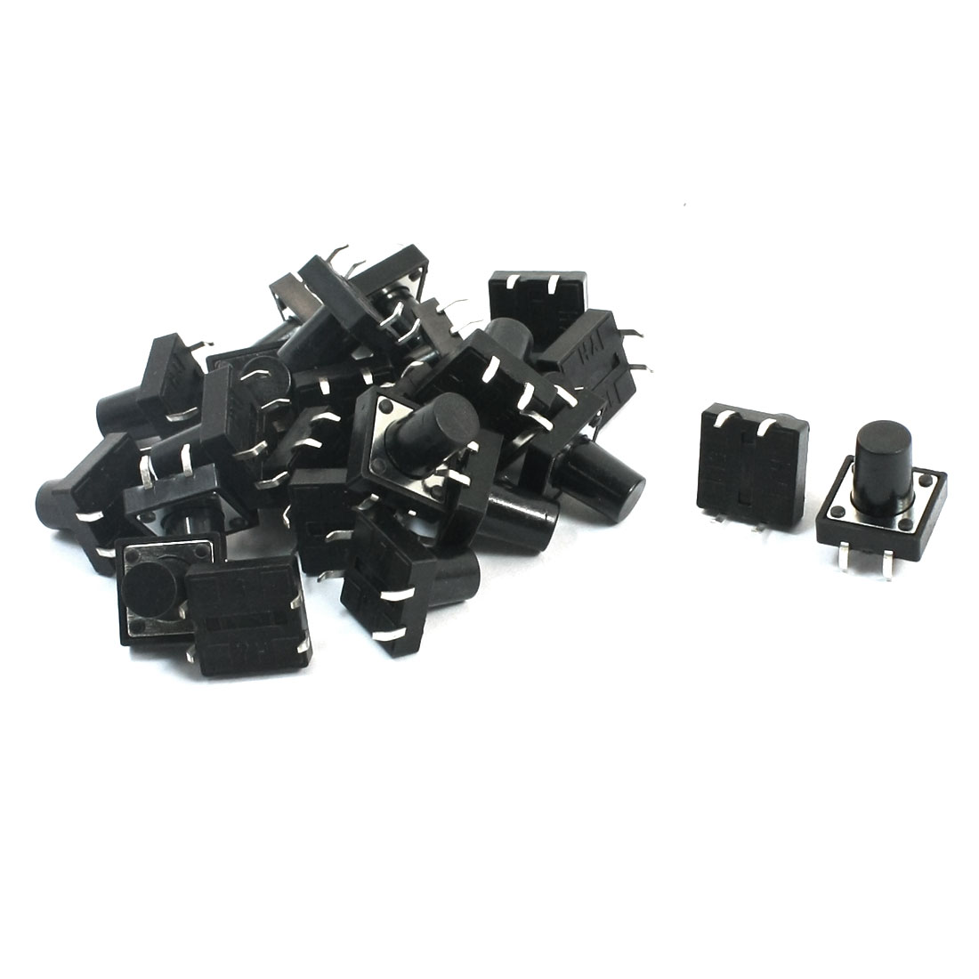 25Pcs Momentary PCB Pushbutton Push Button Tact Tactile Switch DIP 12mmx12mmx12mm
