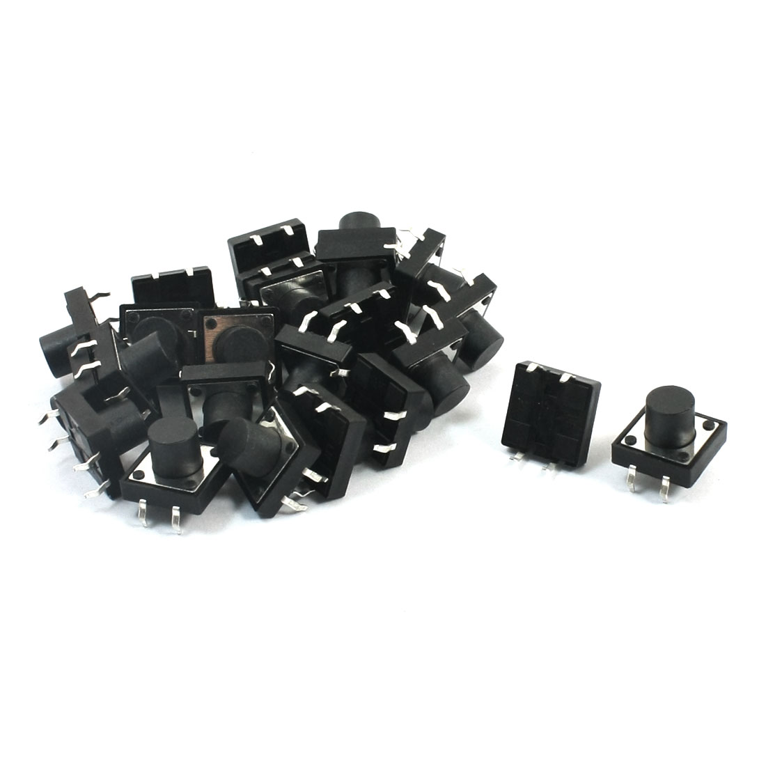 25Pcs Momentary PCB Pushbutton Push Button Tact Tactile Switch DIP 12mmx12mmx9mm