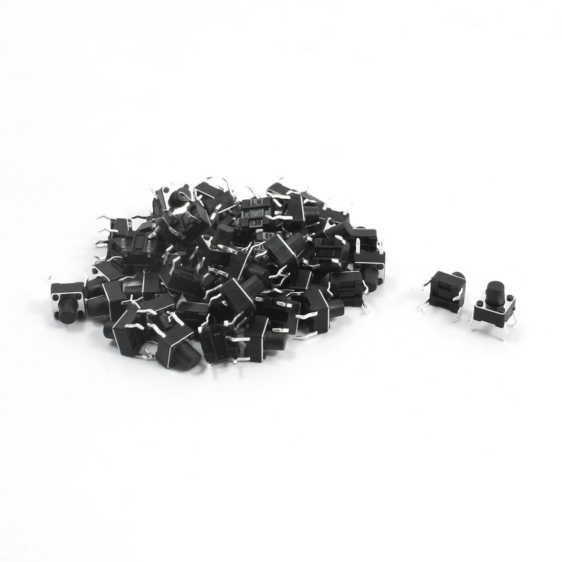 55Pcs Momentary PCB Pushbutton Push Button Tact Tactile Switch DIP 6mmx6mmx7mm