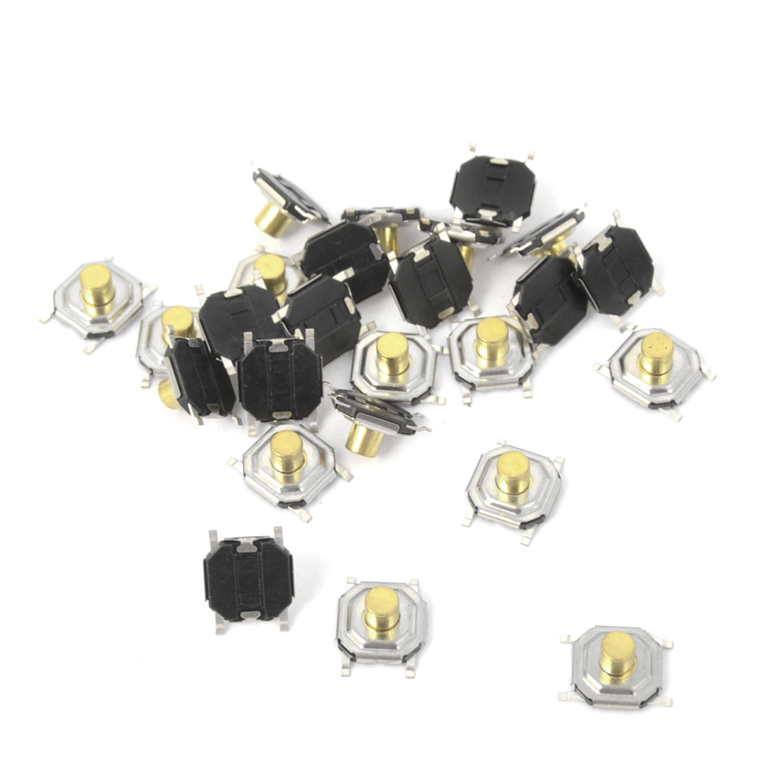 25Pcs Momentary Tact Tactile Push Button Switch 4mmx4mmx3mm 4-pin