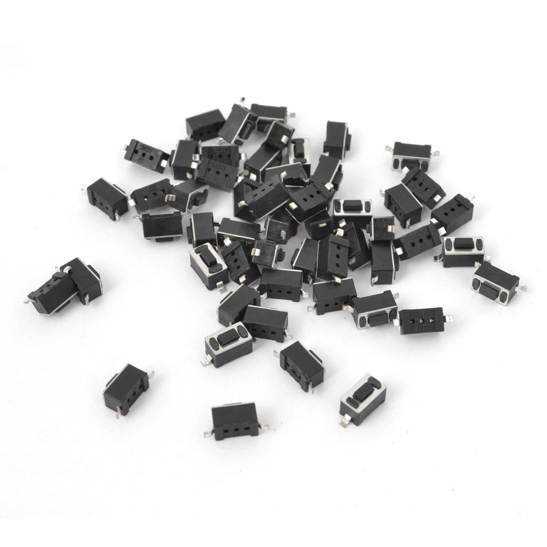 55Pcs Momentary Tact Tactile Push Button Switch 3x6x4.3mm 2-Terminals