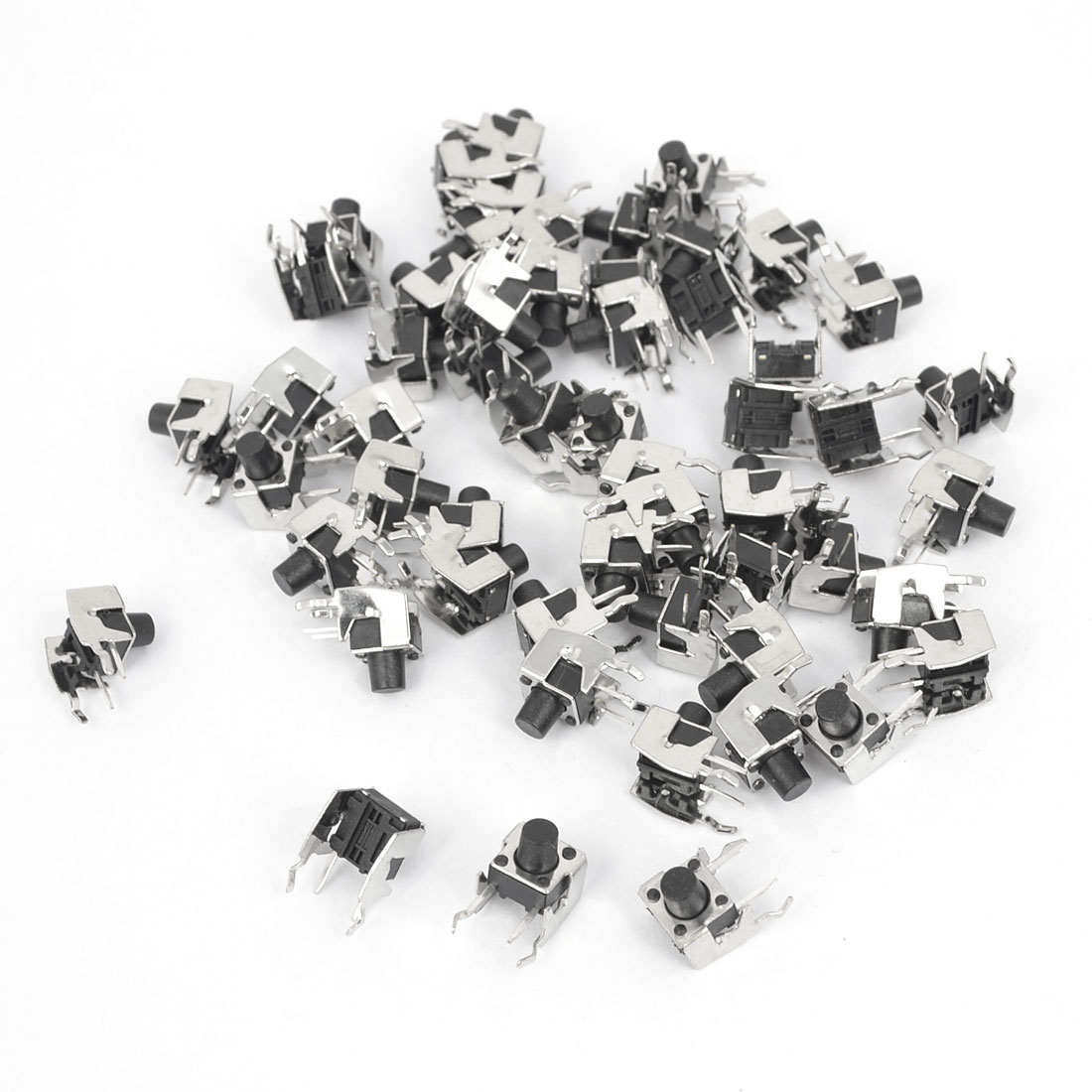55Pcs Momentary PCB Side Mounting Fixed Bracket Pushbutton Push Button Tact Tactile Switch DIP 6mmx6mmx7mm