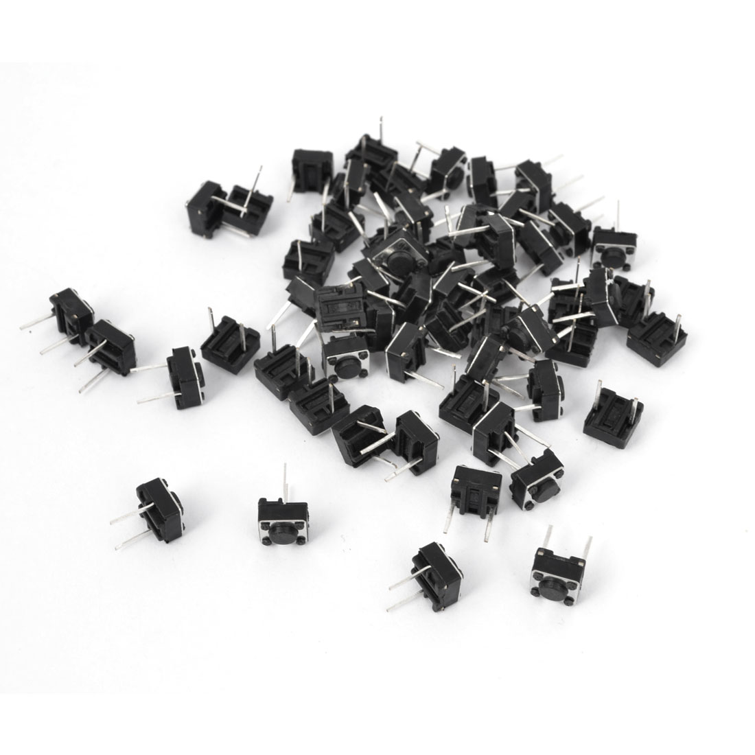 55Pcs Momentary Tact Tactile Push Button Switch 6x6x4.3mm DIP