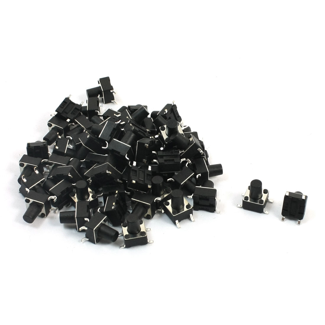 55Pcs Momentary Tact Tactile Push Button Switch 6mmx6mmx8mm 4-pin