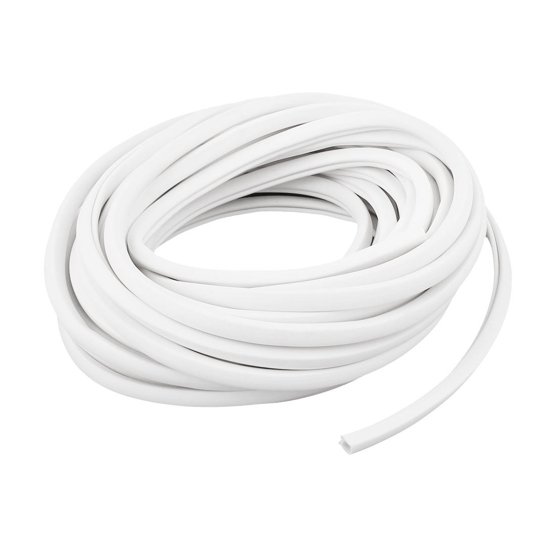 PVC Concave Conversed Blank Write-On Flexible Cable Markers Labels White 10m Long
