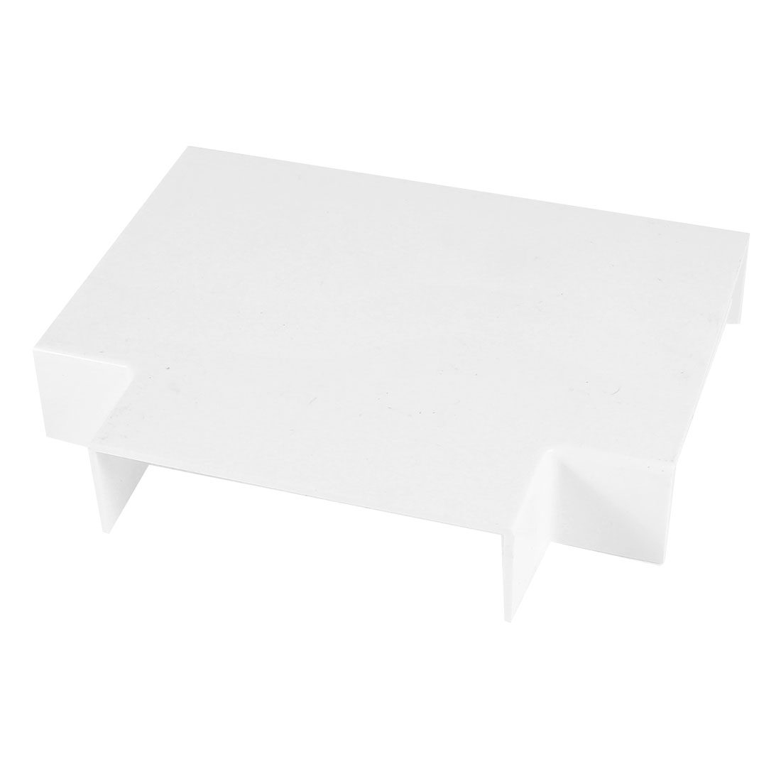 99mm x 99mm x 27mm 3 Way White PVC Flat Tee Mini Trunking