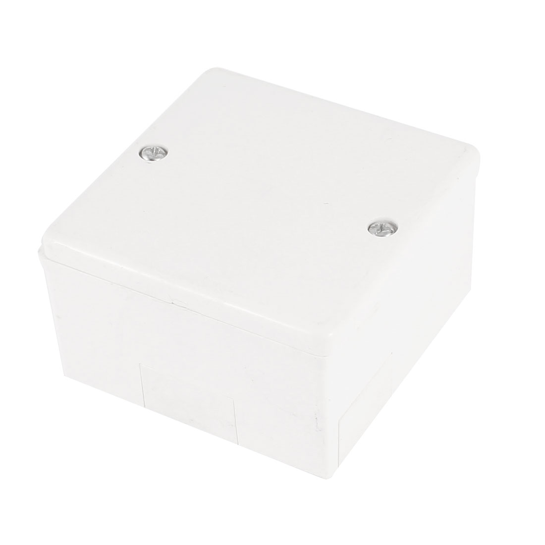 75mm x 75mm x 44mm Surface Mounted Square White PVC Enclosure Case DIY Junction Box
