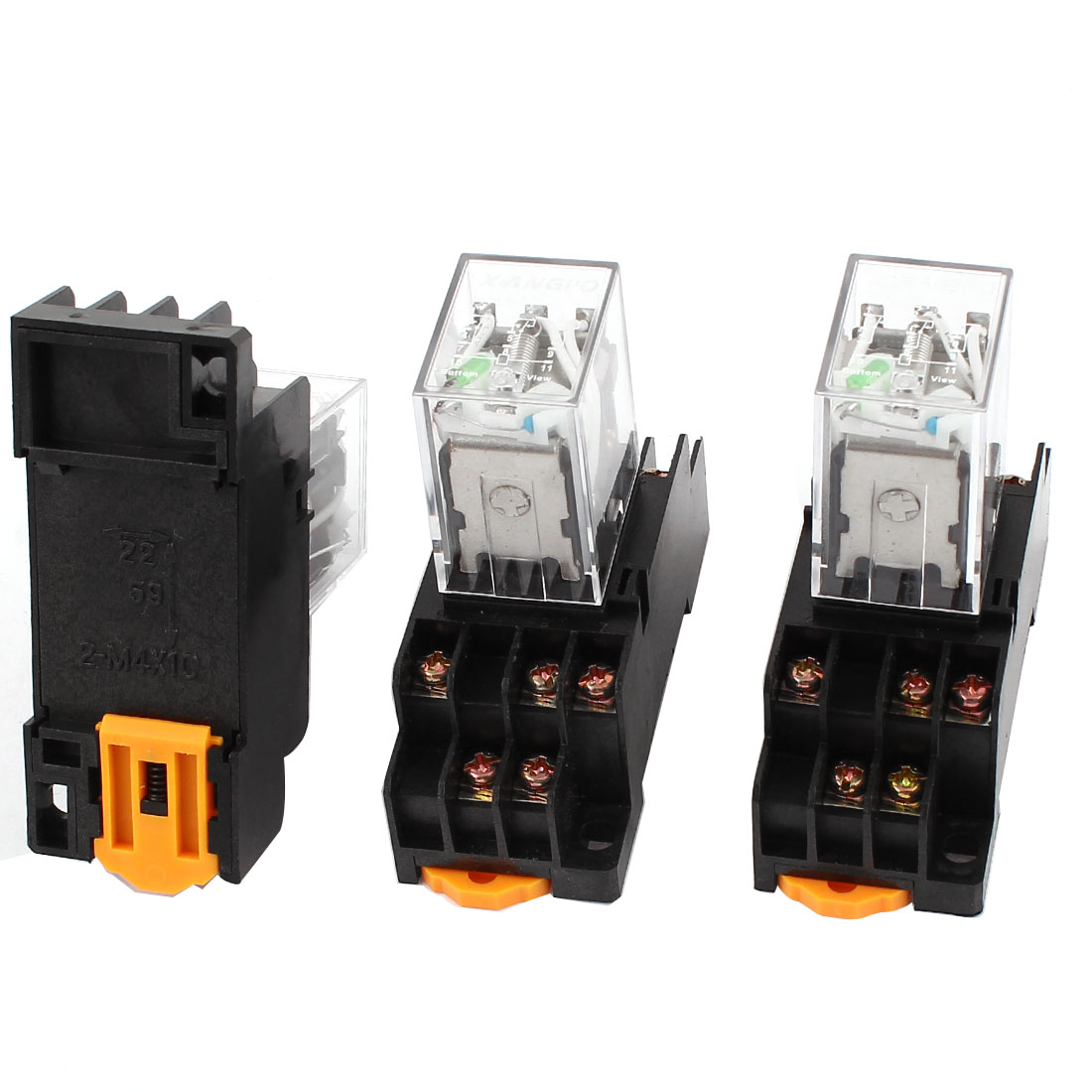 3 Pcs HH53PL DC 24V Coil 3PDT 11Pin 35mm DIN Rail Mounting Electromagnetic Relay