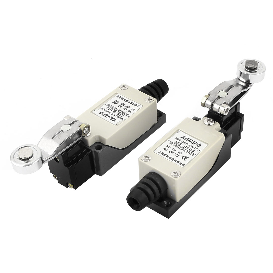ME-8104 DC 115V 0.4A AC 250V 5A NO NC Momentary Rotary Roller Limit Switch 2 Pcs