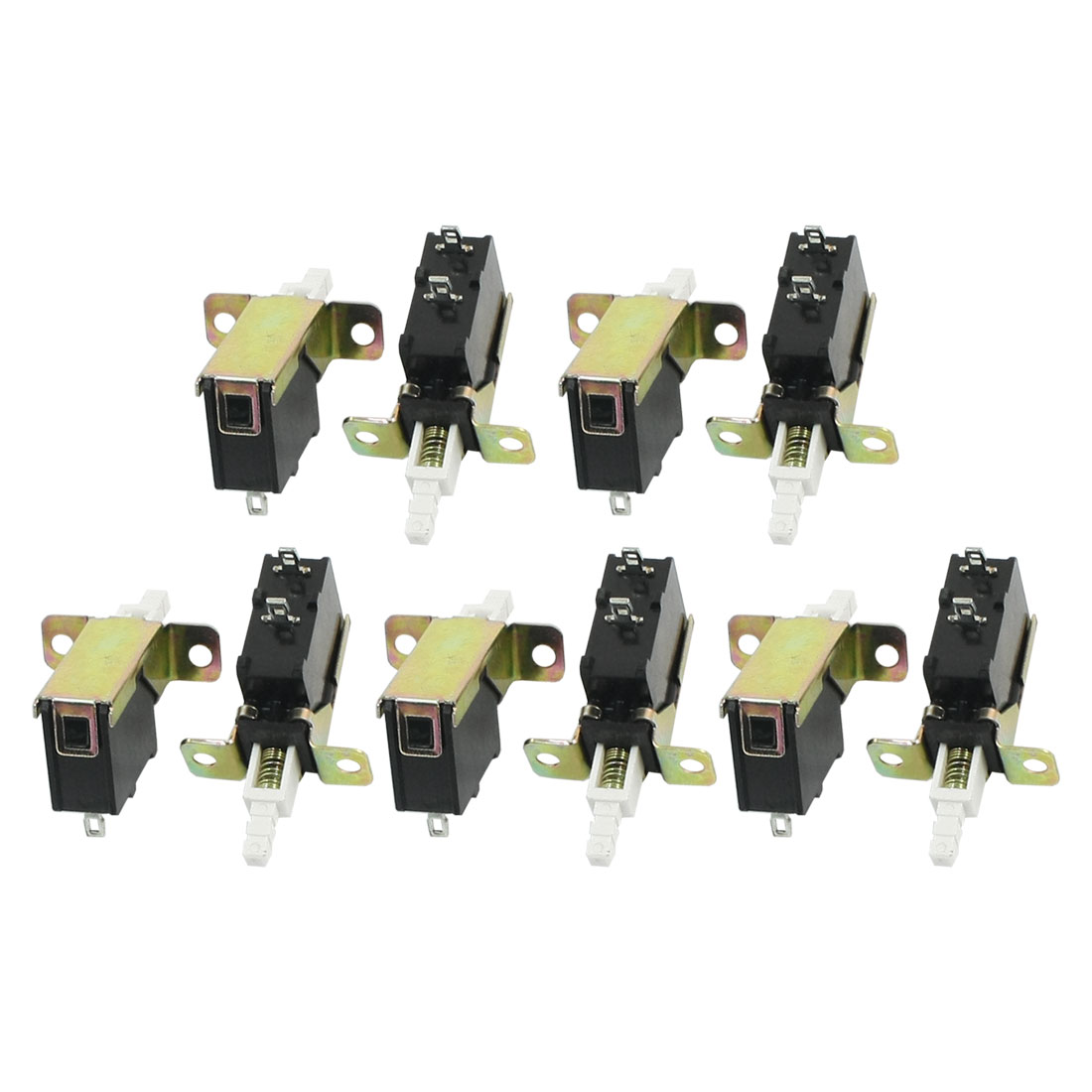 10 Pcs 2 Pin SPST Spring Loaded Locking Push Button Switch