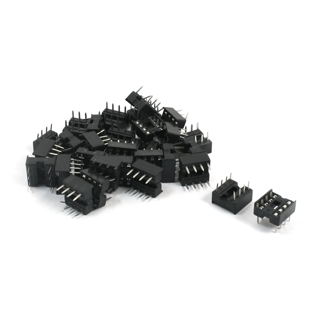 30 Pieces 2.54mm Pitch 8 Pins Double Row DIP IC Socket Adapter Solder
