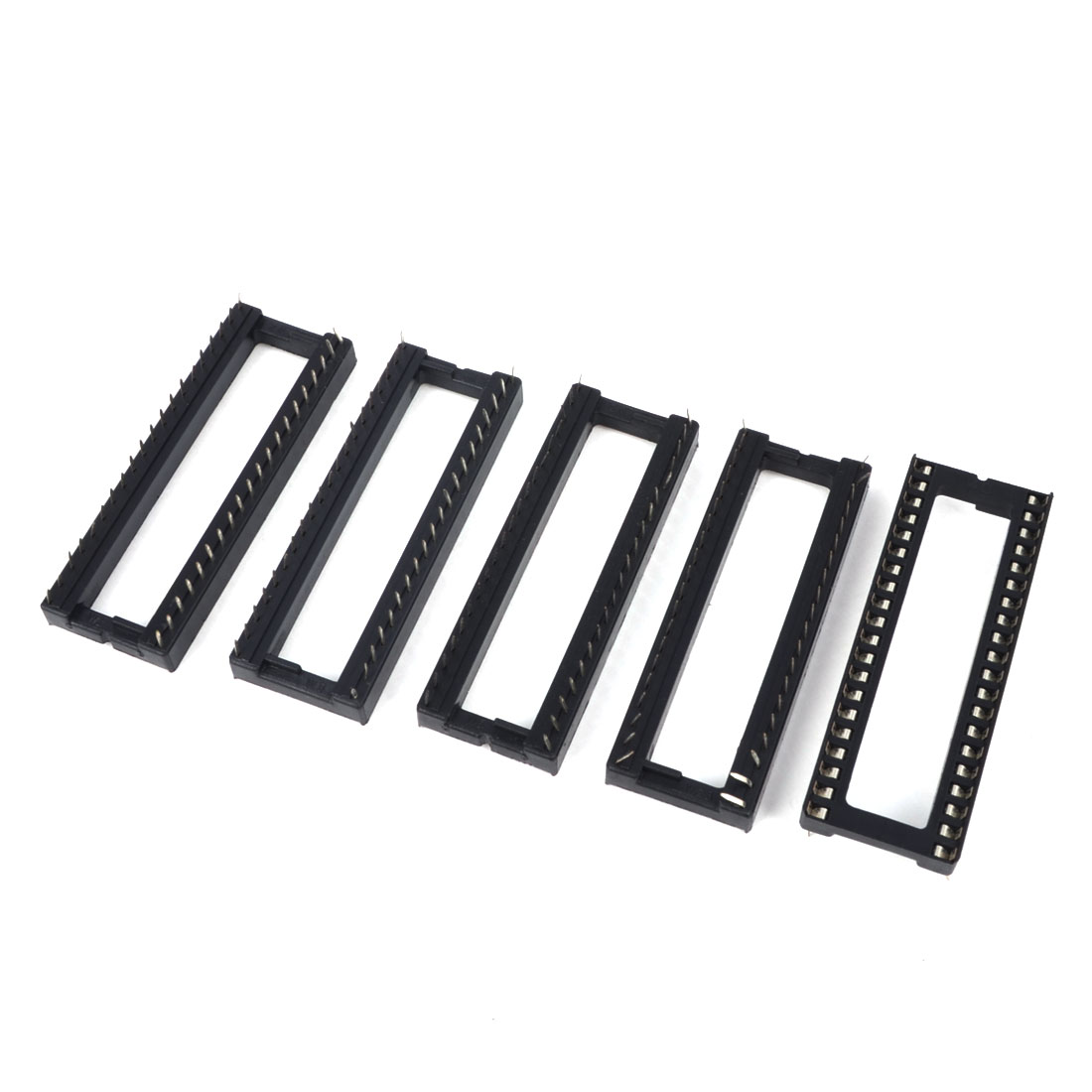 2.54mm Pitch Through Hole 40 Pins DIP IC Socket PCB Board Adapter 5 Pcs