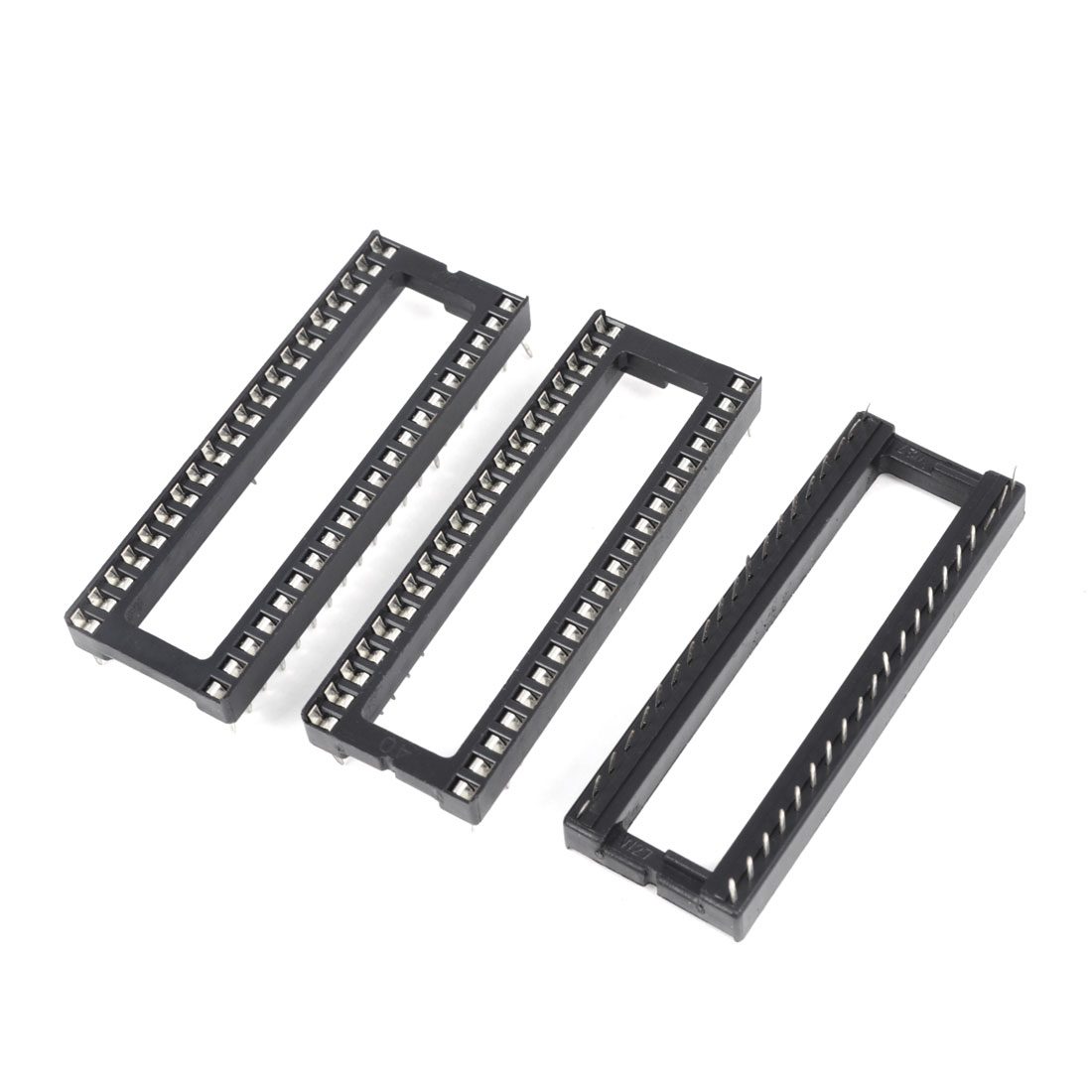 3 Pieces 2.54mm Pitch 40 Pins Double Row DIP IC Socket Adapter Solder