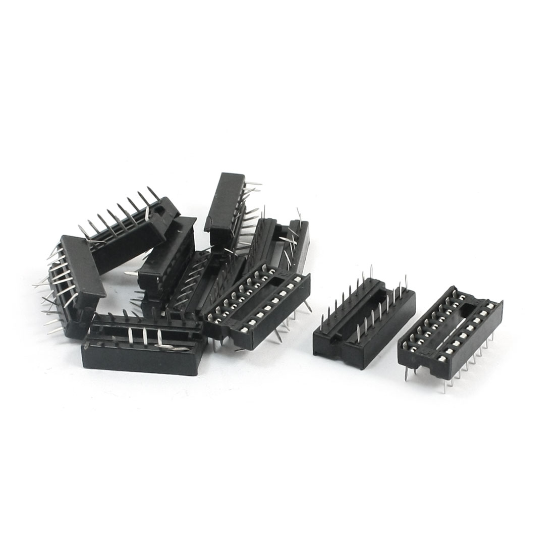 10 Pieces 2.54mm Pitch 16 Pins Double Row DIP IC Socket Adapter Solder